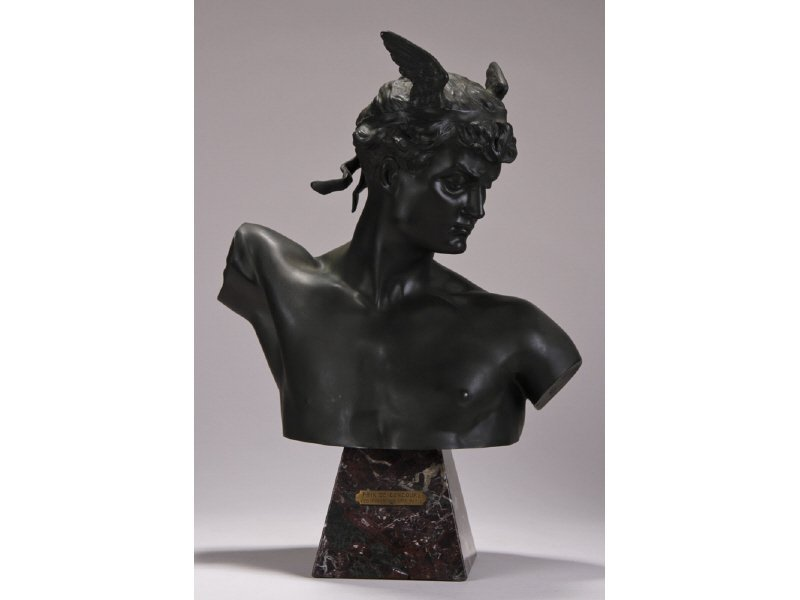 RAYMOND SUDRE 19C Bronze Herme Bust