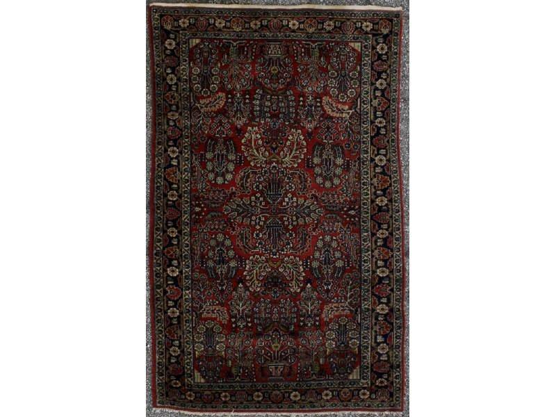 Sarouk 1920s Hand-made Oriental Rug