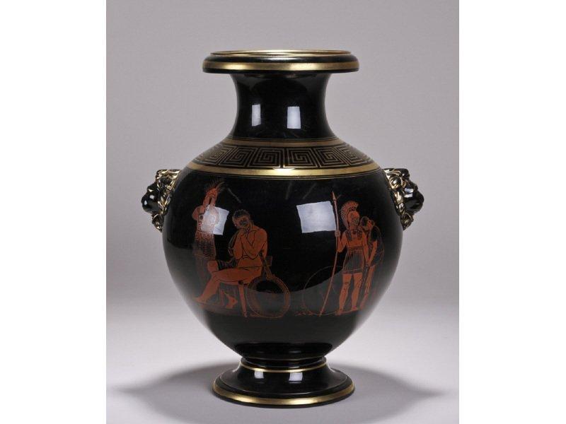 English Stoneware 1870 Potpourri Greece Attic Vase