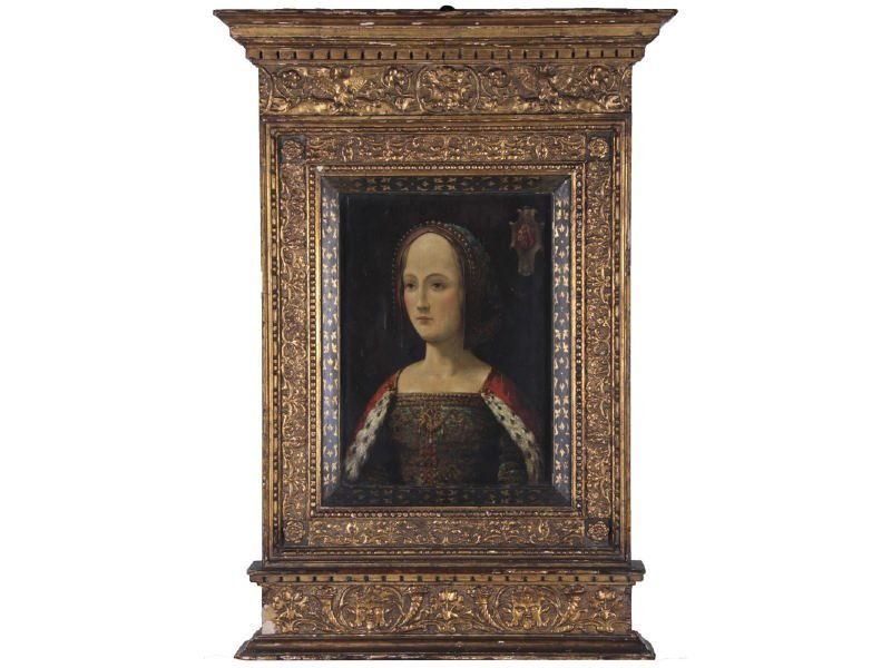 Early Portrait Gabrielle de Bourbon 1460-1516 Painting