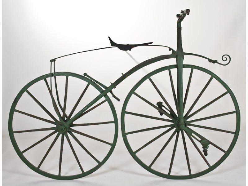 Early English Boneshaker Velocipede Bicycle
