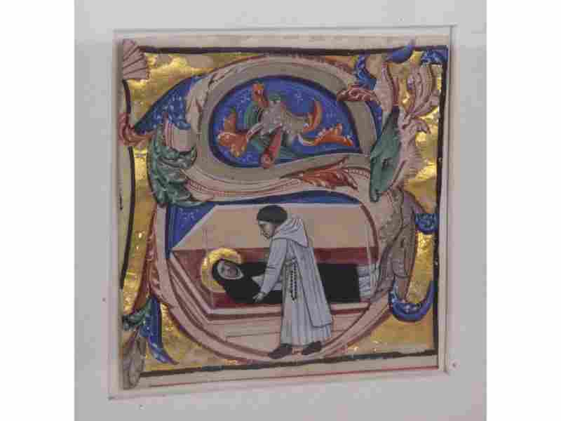 Early 14C Antiphonal Illuminated Manuscript Vellum
