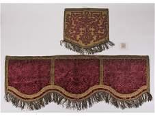 Brocade Ecclesiastical 18C Valance Textile Altar Panel