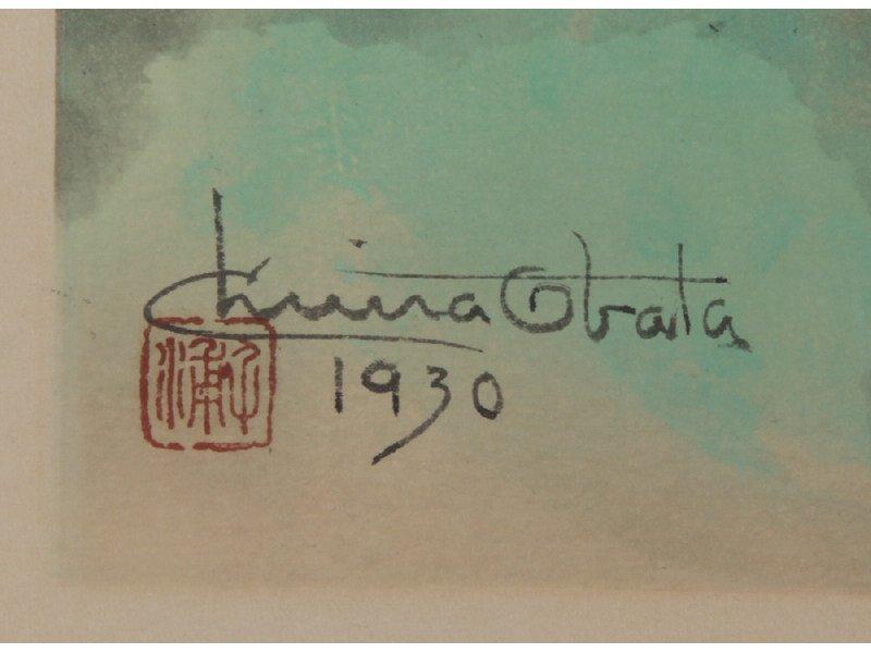 CHIURA OBATA 1885-1975 Upper Lyell Fork Woodblock Print - 3