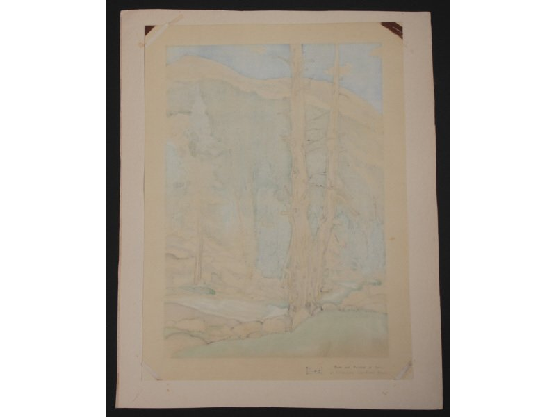 CHIURA OBATA 1885-1975 Upper Lyell Fork Woodblock Print - 8