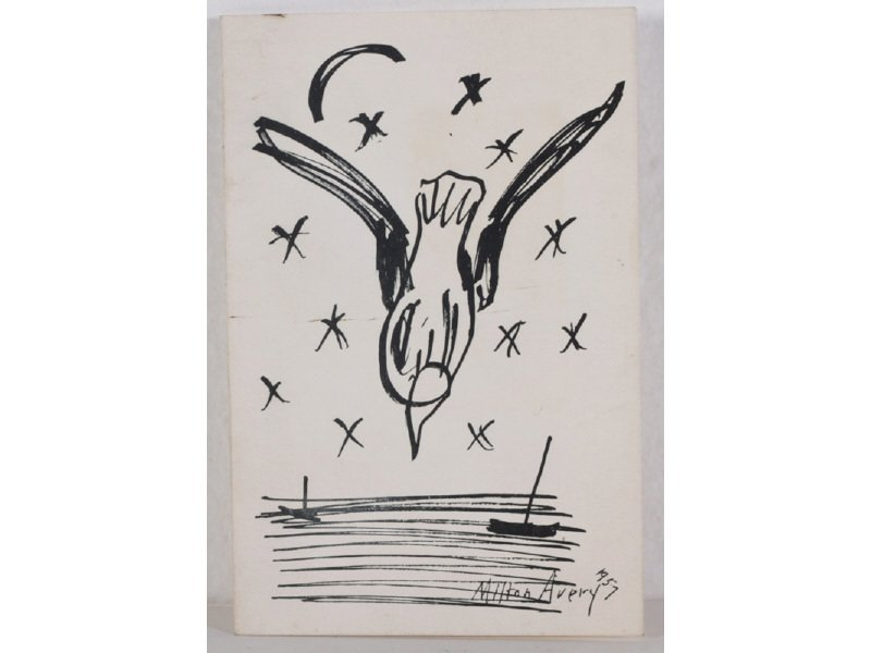 MILTON AVERY (American 1885-1965) Christmas Card Prints