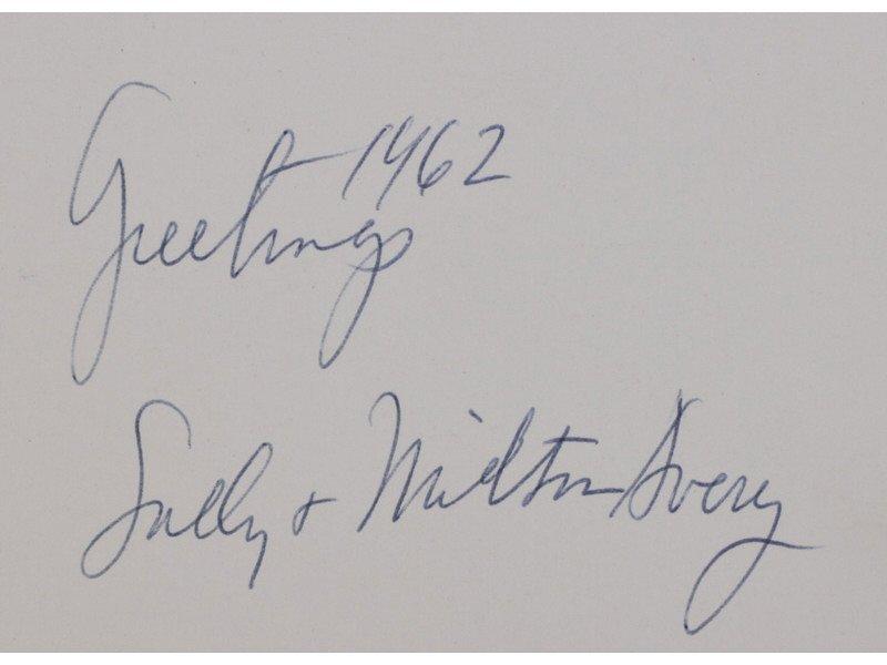 MILTON AVERY (American 1885-1965) Christmas Card Prints - 6