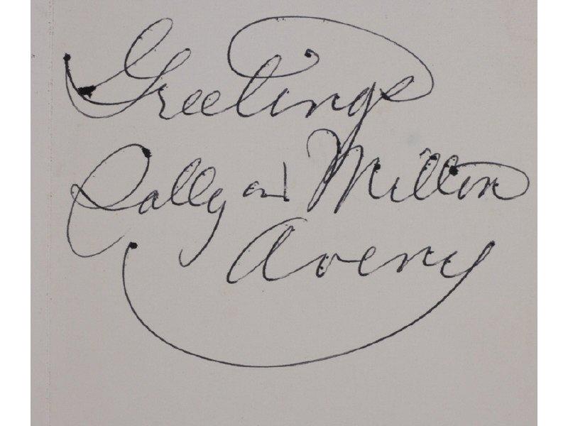 MILTON AVERY (American 1885-1965) Christmas Card Prints - 7
