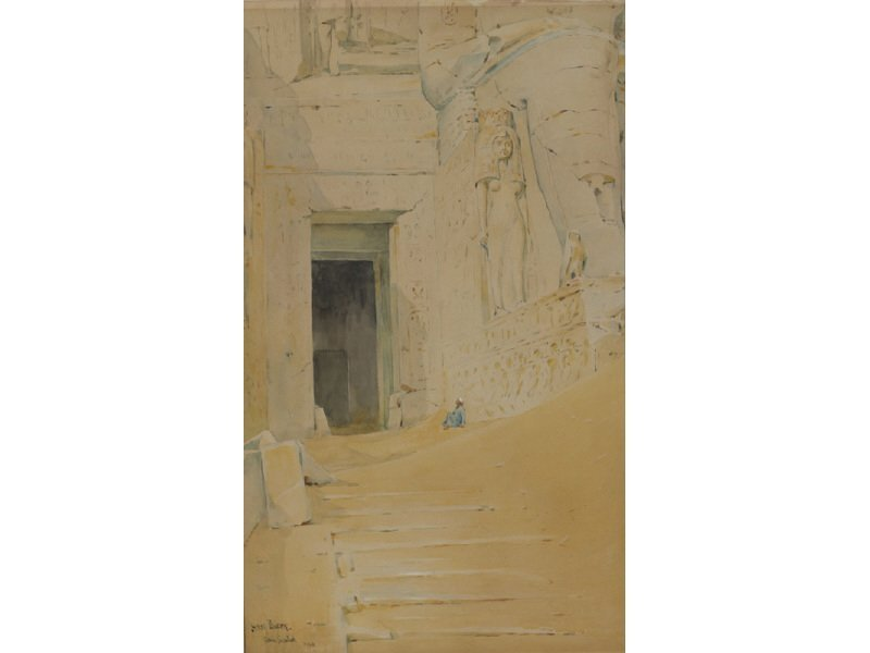 HENRY BACON American 1839-1912 Egyptian Sphinx Painting