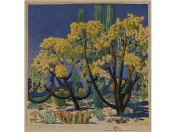GUSTAVE BAUMANN (American, 1881-1971) Woodblock Print