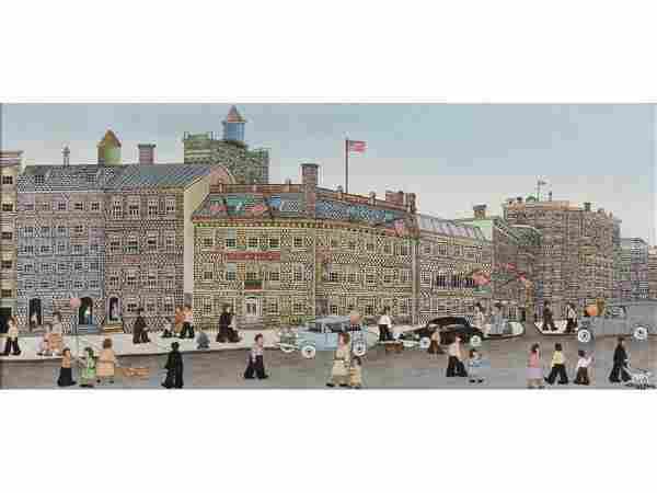 VESTIE E. DAVIS (American, 1903-1978) NY Painting