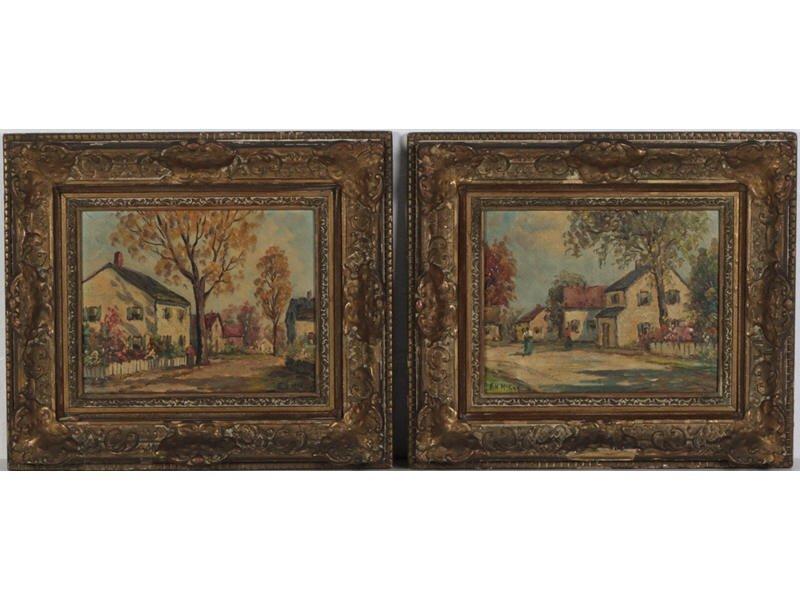 F. H.  MCKAY (American) Pair Oil Paintings
