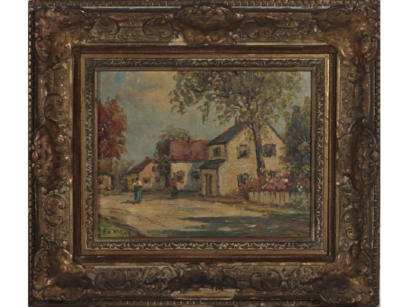 F. H.  MCKAY (American) Pair Oil Paintings - 3