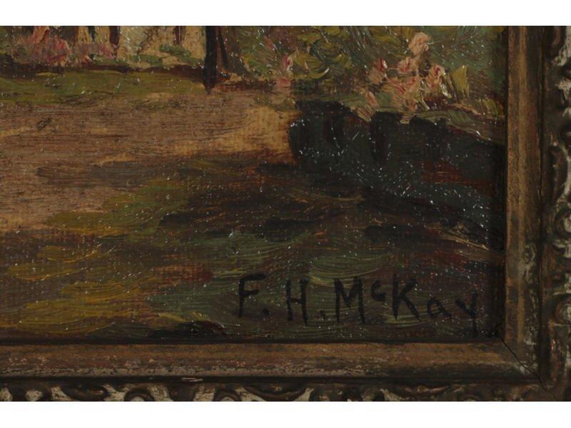 F. H.  MCKAY (American) Pair Oil Paintings - 5