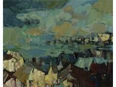 IRVING ROSENZWEIG (NY 1915-?) Gloucester Painting