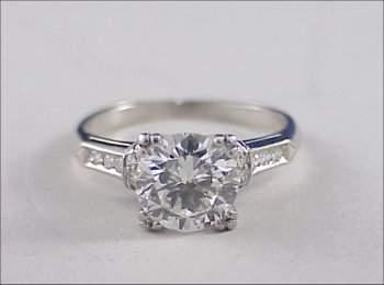 197: Platinum ART DECO 2 ct. Diamond Ring VS2
