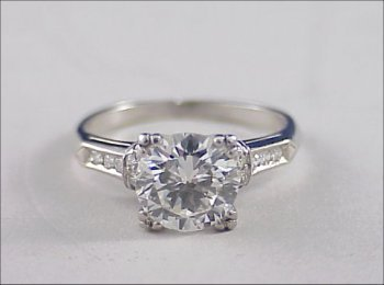 197: Platinum ART DECO 2 ct. Diamond Ring VS2