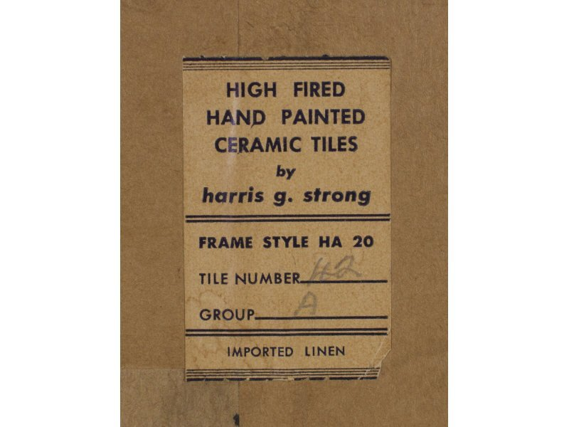 Harris Strong Modernist Cityscape Ceramic Pottery Tile - 4