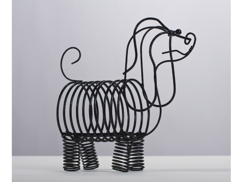 Frederick Weinberg Wire Dog Figural Modern Letter Rack