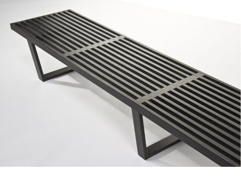 Nelson Black Slat Bench