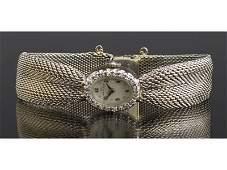 Lady 14K Diamond Mesh Band Wristwatch Hamilton