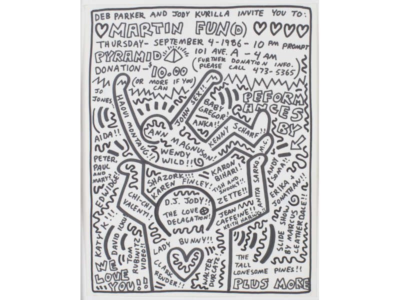 Keith Haring (1958-1990) Original Marker Drawing