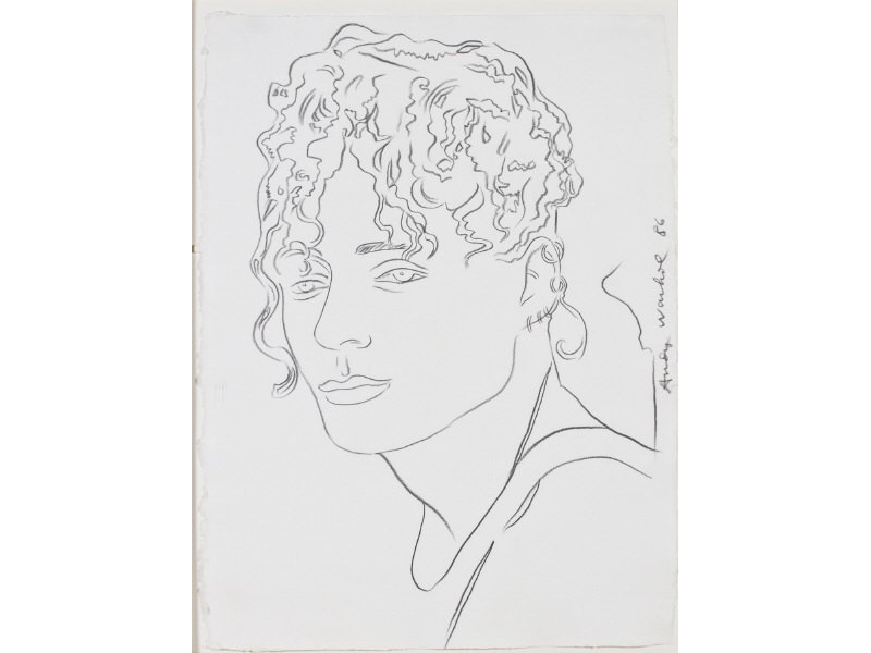ANDY WARHOL 1928-1987 Martin Burgoyne Portrait Drawing