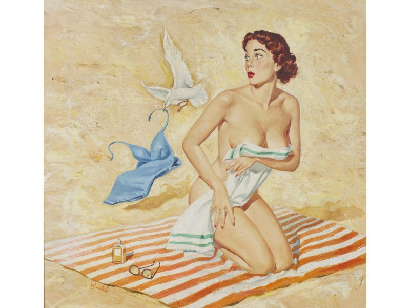 Al Brule American Illustrator Pin Up Nude Painting