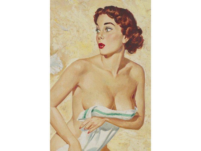 Al Brule American Illustrator Pin Up Nude Painting - 2