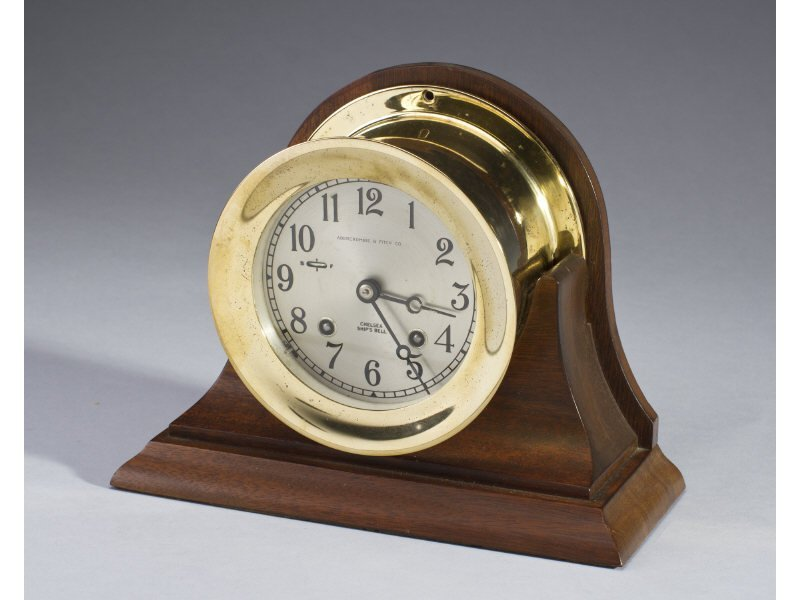 Abercrombie & Fitch Chelsea 'Ship's Bell' Clock - 2