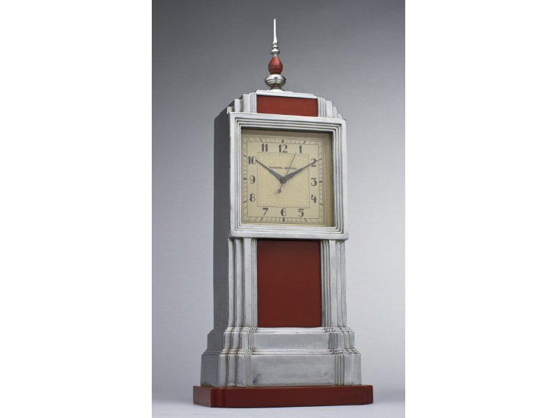 Art Deco Manning Bowman Skyscraper Bakelite Clock