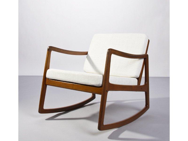 Ole Wansher Teak Rocking Chair