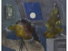 Julia Thecla (1896-1973) Magical Realism 1945 Painting