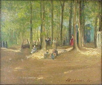 1: Albert J Adolphe 1865-1940 Painting Paris