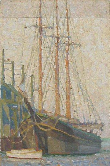 11:  Early 20th Cent. Rockport Ship Painting