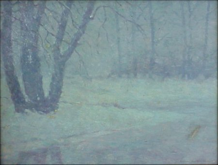 19: T. Ball 1862-1934 Impressionistic Winter