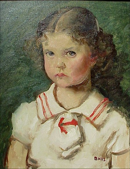 21: Simon P.  Baus Indiana 1940 Painting Girl