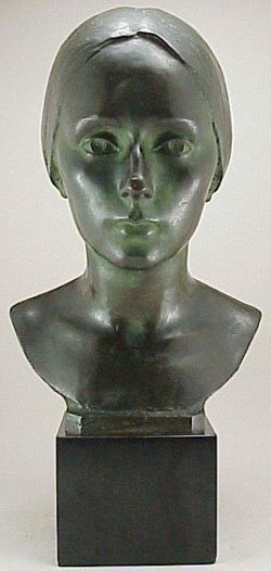 22: Roman Bronze Works 1927 Bust of Woman Ben