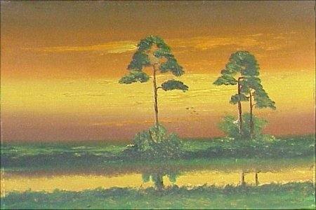 24: A Blood Black Florida Highwaymen Painting