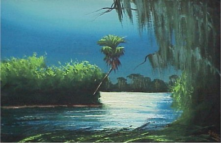 90 Alfred Hair Florida Highwaymen Painting