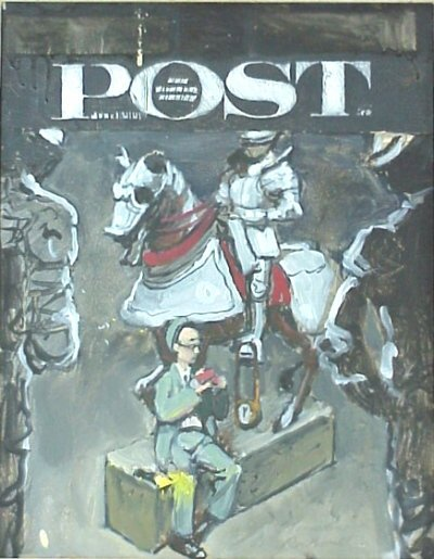 153: Sg. Norman Rockwell Post Cover Painting