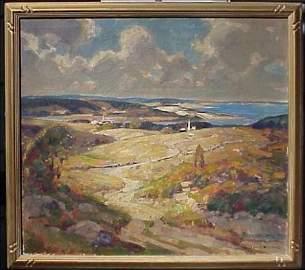 169: Wm Lester Stevens Landscape Painting