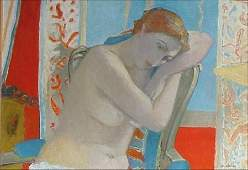 206: Maurice Brianchon French Nude Painting
