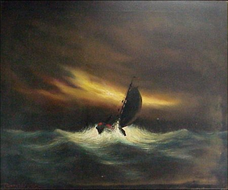 240:Toon Koster 1913-1989 Dutch Ship Painting