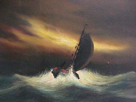 240:Toon Koster 1913-1989 Dutch Ship Painting - 3