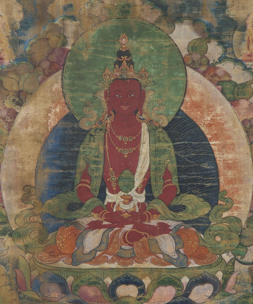 Asian Early 19C Buddhist Chinese - Red Tara Painting