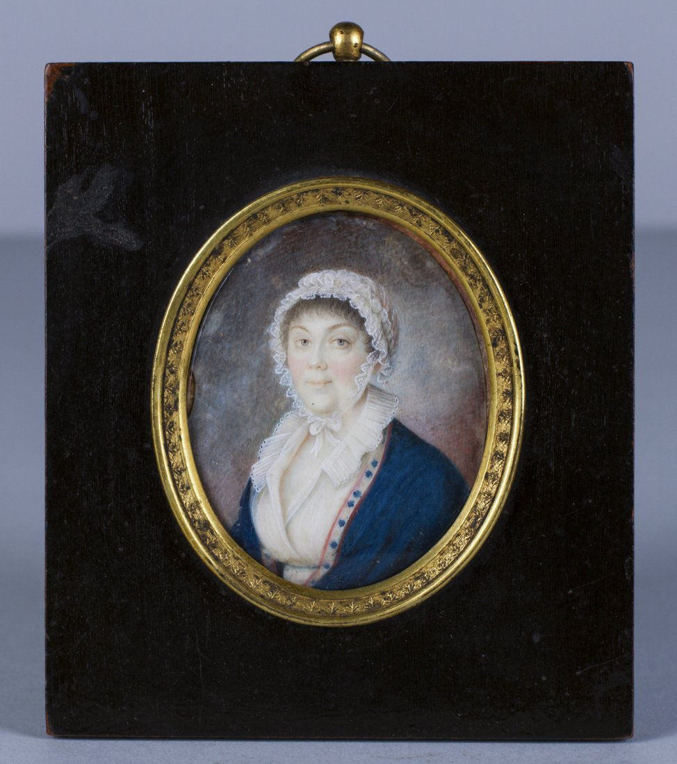 Russian Miniature 19C Painting on Ivory of Noble Lady - 2