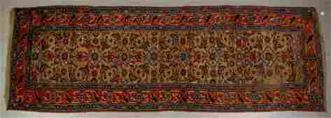 Baktiari Antique Persian Oriental 10' Runner Old Rug