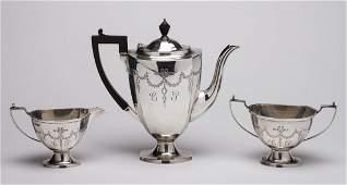 Fine Sheffield 1920s England Sterling Silver Coffee Set