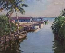 Backus Albert American 19061991 Florida Oil Painting